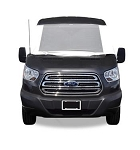 Deluxe Windshield Cover with Roll-up Windows in White Vinyl for 2015 - 2020 Ford Transit 150, 250 & 350