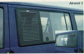 EuroVan Airvent 1 Security Screen for Driver Side Sliding Window