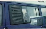 EuroVan Airvent 1 Security Screen for Passenger Side Sliding Window