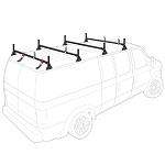 1975 - 2014 Ford Econoline (E Series) H1 4 Bar Steel Roof Rack System in Black or White Finish