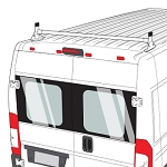 2014 - 2020 Ram ProMaster H1 1 steel crossbar with uprights  in Black or White Finish
