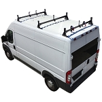 2014 - 2020 Ram ProMaster H1 3 Bar Steel Roof Rack System in Black or White Finish