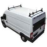 2014 - 2021 Ram ProMaster H1 2 Bar Aluminum Roof Rack System in Black, White or Silver Finish