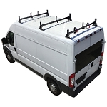 2014 - 2020 Ram ProMaster H1 3 Bar Aluminum Roof Rack System in Black, White or Silver Finish