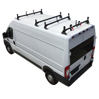 2014 - 2021 Ram ProMaster H1 4 Bar Aluminum Roof Rack System in Black, White or Silver Finish
