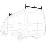 2007 - 2021 Sprinter Low Roof H1 2 Bar Stainless Steel Roof Rack System