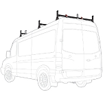 2007 - 2021 Sprinter High Roof  H1 3 Bar Stainless Steel Roof Rack System
