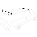 2001 - 2006 Sprinter Low Roof 2 Bar Aluminum Roof Rack with accessories - choose White, Black or Silver