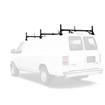 1975 - 2014 Ford Econoline (E Series) H1 3 Bar Aluminum Roof Rack System in Black or White Finish