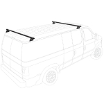 2001 - 2006 Sprinter Low Roof H3 style 2 Bar Aluminum Roof Rack System - choose black, white or silver finish