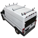 2014 - 2021 ProMaster H3 Style 3 Bar Aluminum Roof Rack w/ Side Supports - choose black, white or silver finish