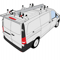 Mercedes Metris Vantech Aluminum & Steel H Series Roof Rack Systems