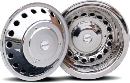 2012 - 2021 Sprinter 3500 Set of 4 Stainless Wheel Simulators for 16 inch Wheels - wheels with 18 round holes*