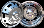 2007 - 2011 Sprinter 3500 Set of 4 Stainless Wheel Simulators for 16 inch Wheels - Classic Style* B stock