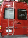 2001 - 2006 Sprinter Rear Ladder - High Roof Driver's Side Rear Door - models with 5 cylinder engine