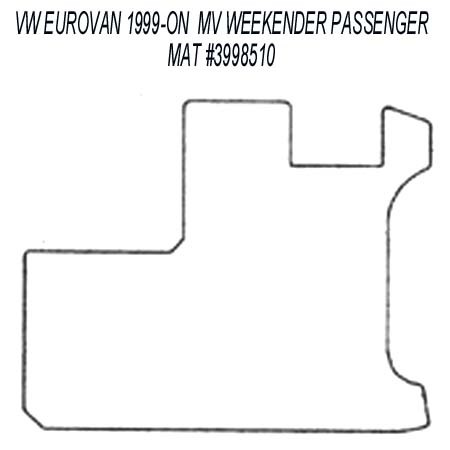 Passenger Area Rubber Floor Mat for all 1999 - 2003 VW EuroVan MV Weekender Models