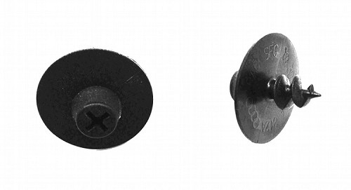 Set of 2 Floor Mat Mounting Posts - (black) fit various VW Models & 2001 - on EuroVan