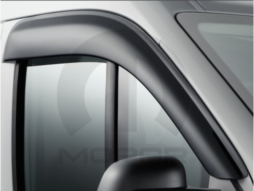 2014 - 2021 Ram Mopar Brand ProMaster Wind & Rain Deflector Set (sticks on outside of window frame)