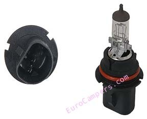 qty. 1, 1992 - 1995 EuroVan Headlight bulb - standard - Hella - replace in pairs