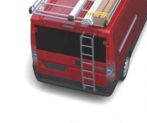 2014 - 2021 Ram ProMaster Low Roof Prime Design Aluminum Rear Ladder - No Drilling!