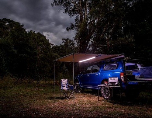 ARB Aluminum Awning with LED Lights -  8.2ft X 8.2ft.