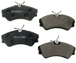 1997- 1999 VW EuroVan Front Brake Pad Set for Canadian models with Lucas calipers & 282mm solid rotors - OP Parts or Meyle brand (no sensor)