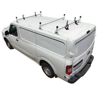 H1 Style Steel 3 Bar Roof Rack System for 2012 - 2021 Nissan NV Full Size
