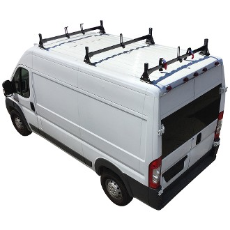 2014 - 2021 Ram ProMaster H1 3 Bar Steel Roof Rack System in Black or White Finish