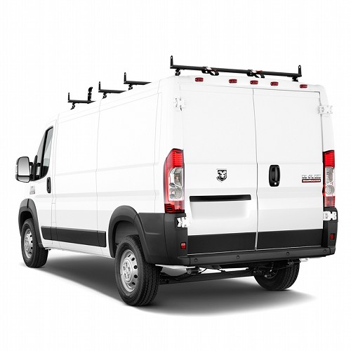2014 - 2021 ProMaster H3 Style 4 Bar Aluminum Roof Rack w/ Side Supports - choose black, white or silver finish