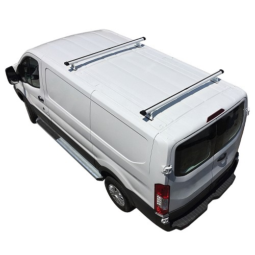 2015 - 2021 Ford Transit H3 Style 2 Bar Aluminum Roof Rack w/ End Caps