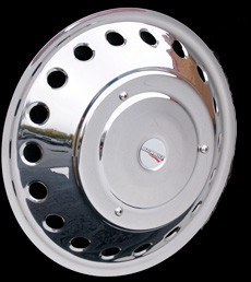 2012 - 2018 Sprinter 3500 Replacement Single Front Stainless Wheel Simulators for 16 inch Wheels - wheels with 18 round holes*
