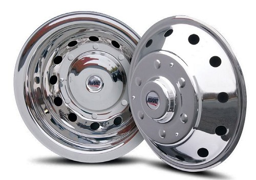 2014 - 2019 Ford Transit Van Set of 4 Stainless Wheel Simulators for 16 inch steel wheels*